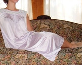 Girly vintage rose pink purple spring night gown lingerie