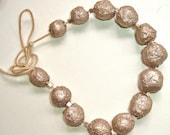 Silver Paper Mache Necklace - Earth, Eco Friendly Sale
