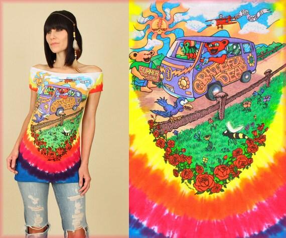 GRATEFUL DEAD Summer Tour Tie Dye Tunic T Shirt