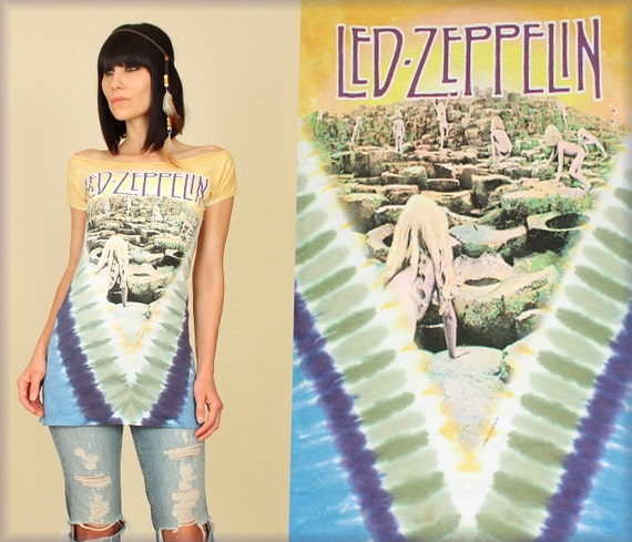 Led Zeppelin Houses Of The Holy TIE DYE TUNIC T-Shirt