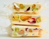 French Nougat - SAMPLER of 8 Flavors - Almond & Pistachio Nougats in Vanilla, Chocolate, Strawberry, Cherry, Green Tea, Coffee, Cranberry