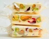 French Pistachio-Cranberry Nougat Candy - Soft