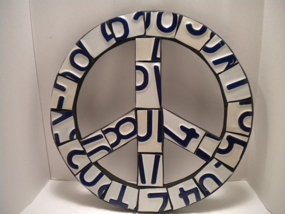 License Plate Peace Sign