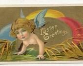 Vintage 1911 Easter post Card  Easter Greetings