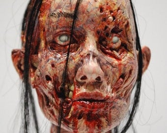 WALKING DEAD Head Girl PAINTED