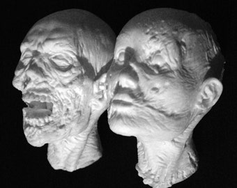 WALKING DEAD Heads Set (Unpainted)