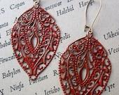 SCARLET TEMPLE Filigree Earrings Bohemian Jewelry