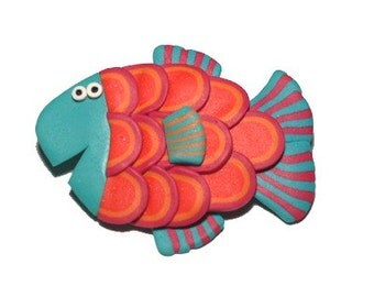 Happy Fish brooch