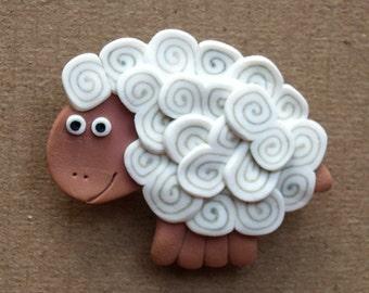 White Sheep pin