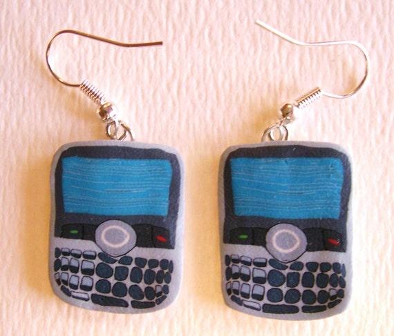 tiny blackberries - dangly earrings