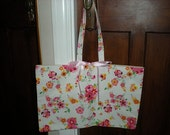 Cath Kidston Vintage Fabric Posy Tote Shopping Bag