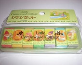 1995 Sanrio Little Cottonwood Cottage Plastic Cased Erasers Rubbers