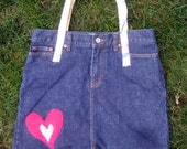 The Heart-Jean Skirt Tote Bag