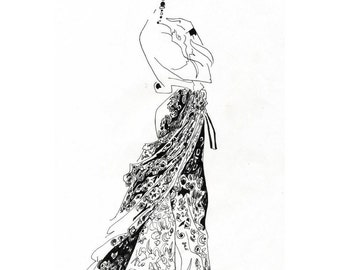 Original Fashion Illustrations Set