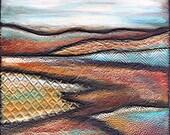 SEDONA- Textured paper landscape, 12 x 12