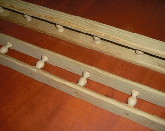oak galley rail