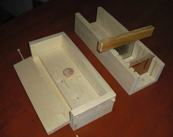 wooden soap mold colapsable 4-5 lb with cutter - slicer