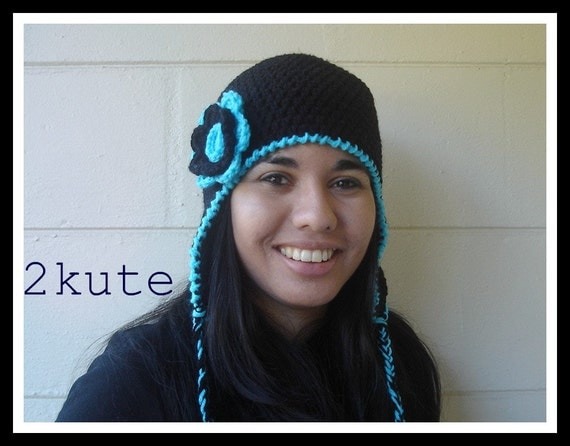 Crochet Womens earflap hat, Crochet earflap teen hat, hat for women, adult earflap hat, Women crochet winter caps, women accessories