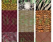 Textures and Backgrounds Digital Collage Sheet - INSTANT DOWNLOAD