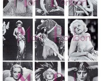 Ladies of Vintage Cinema Theda Bara, Gloria Swanson, Clara Bow, Aileen Pringle, Mae Murray, Jean Harlow, Marlene Dietrich - INSTANT DOWNLOAD