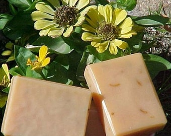 Carrot Calendula Natural Orange Color Unscented Soap