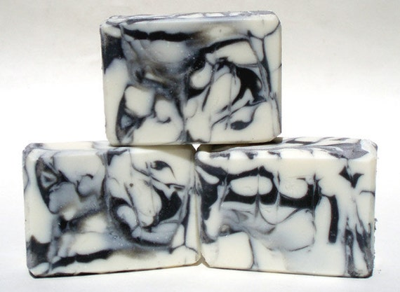 Anise Handmade Soap Black White Cold Process