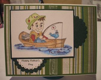 Handmade Fisherman Father Day Card
