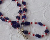 Get This In Time for the 4th of July Red White and Blue Necklace Lanyard