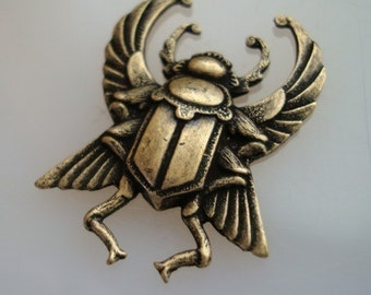 SteamPunk Beetle Bug, Jewelry Supply or Embellishments, USA Brass, Nice Brass Ox, NO Raw Brass, Quality Component