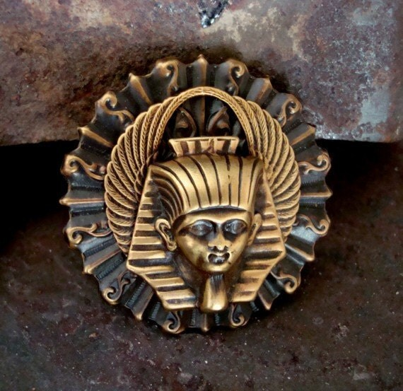 Steampunk, Gothic, EGYPTIAN KING Pendant Or Completed Necklace, Quality, Custom, and Unqiue, Original Design Necklace Supply
