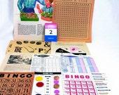 Game Night Sweet Twee Lab Vintage Mini Papercrafting Kit