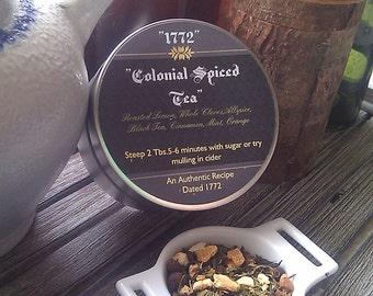 "1772 TEA "" Colonial Spiced Tea"" Great For Cider As Well"
