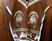 SALE vintage HORSE blanket PONCHO southwest reversible fringe. marked down from 54.00