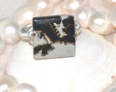 Picture Jasper wire wrapped ring, Gemstone Ring, Jasper ring, Fashion Jewelry