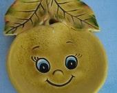 SALE- Happy Apple Face Dish, Vintage. Super cute, great condition