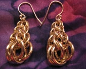 Sterling Silver Graduated Persian Chain Maille Earring