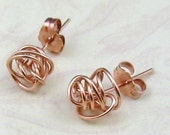 Rose Gold SCRIBBLE STUDS solid 14kt gold earrings