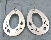 EMERGING sweet sterling silver dangle earrings by Crazy Daisy Designs