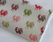 Chenille Burp Cloth \/ Rooster