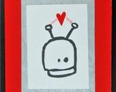 Lovesick Robot Valentine Card