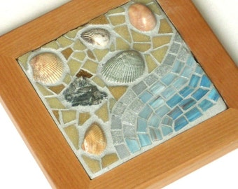 Gifts from the Ocean, Framed Mosaic Art