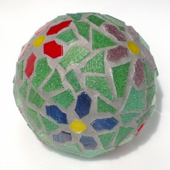 Black Decorative Balls For Bowls: Green Thumb Mosaic Decorative Ball
