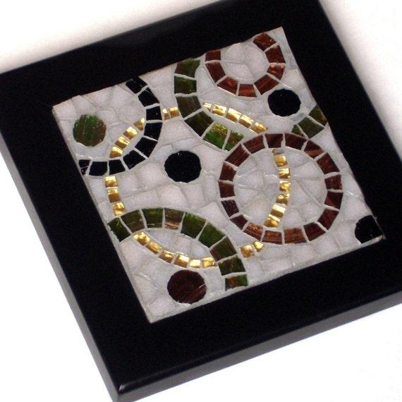 Circles, Framed Mosaic  Art