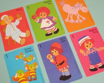 Vintage Hallmark Raggedy Ann and Andy Cards - Set of 6 - Colorful Cards