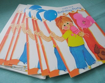 Vintage Millen Birthday Party Invitations (8) - Boy or Girl