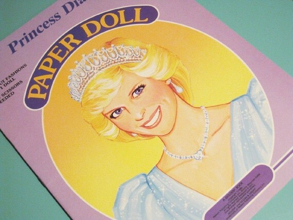 Vintage Princess Diana Paper Doll Book - Uncut