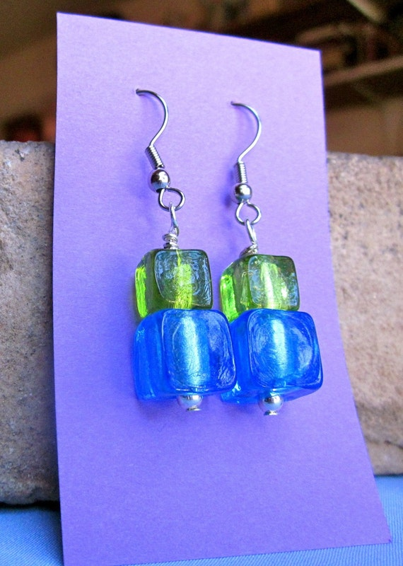 Cool Glass Bead Earrings
