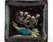 Skeleton Crew decoupaged wooden tray