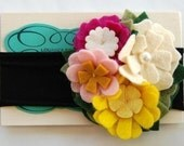 Summer garden felt flower headband
