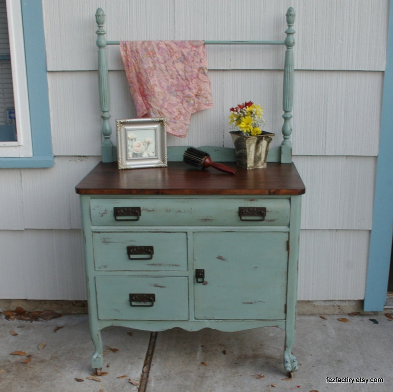 Refinishing Bathroom Vanity Refinished Antique Dresser or wash stand
